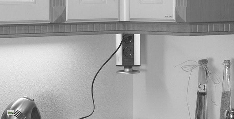 evoline steckdose versenkbar 3 fach energiebox chrom einbausteckdose 31422 a ebay. Black Bedroom Furniture Sets. Home Design Ideas