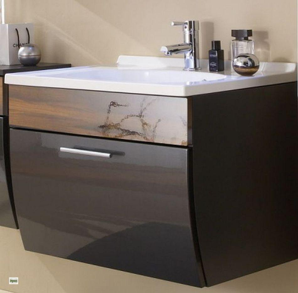 waschplatz g ste wc bad waschtisch 70cm schublade softeinzug waschbecken 5601 ebay. Black Bedroom Furniture Sets. Home Design Ideas