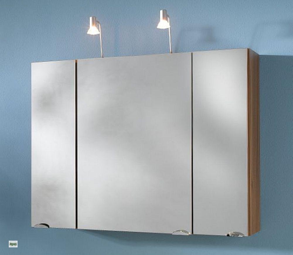 badezimmer spiegelschrank 90cm strom box halogenstrahler 2x20w badspiegel 5642 ebay. Black Bedroom Furniture Sets. Home Design Ideas