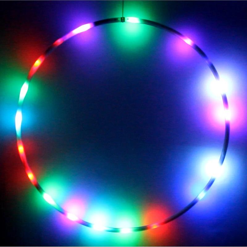 hoopomania led hula hoop reifen mit 22 leuchten mit 7 farben 90cm. Black Bedroom Furniture Sets. Home Design Ideas
