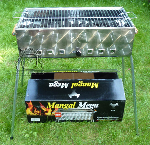 mangal mega schaschlik und barbecue grill aus edelstahl ebay. Black Bedroom Furniture Sets. Home Design Ideas