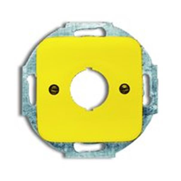 busch j ger reflex si 2533 214 15 zentralscheibe gelb. Black Bedroom Furniture Sets. Home Design Ideas