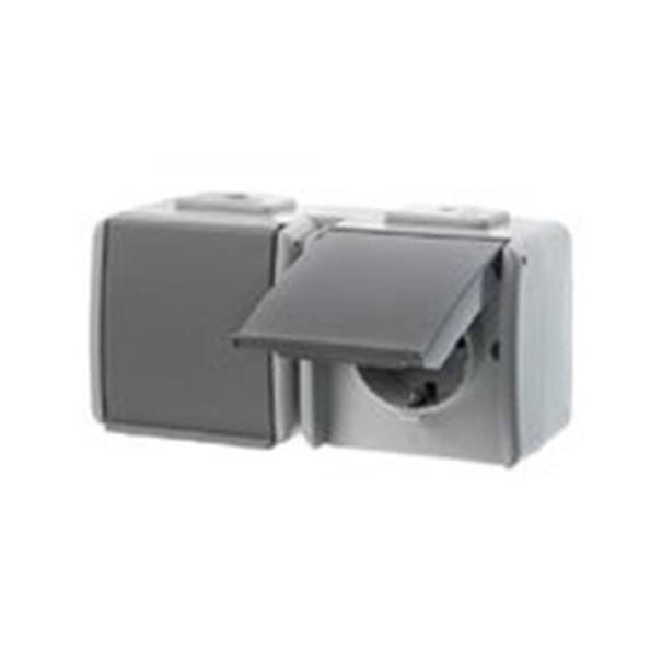 berker aquatec ip44 478405 2 fach steckdose schuko. Black Bedroom Furniture Sets. Home Design Ideas