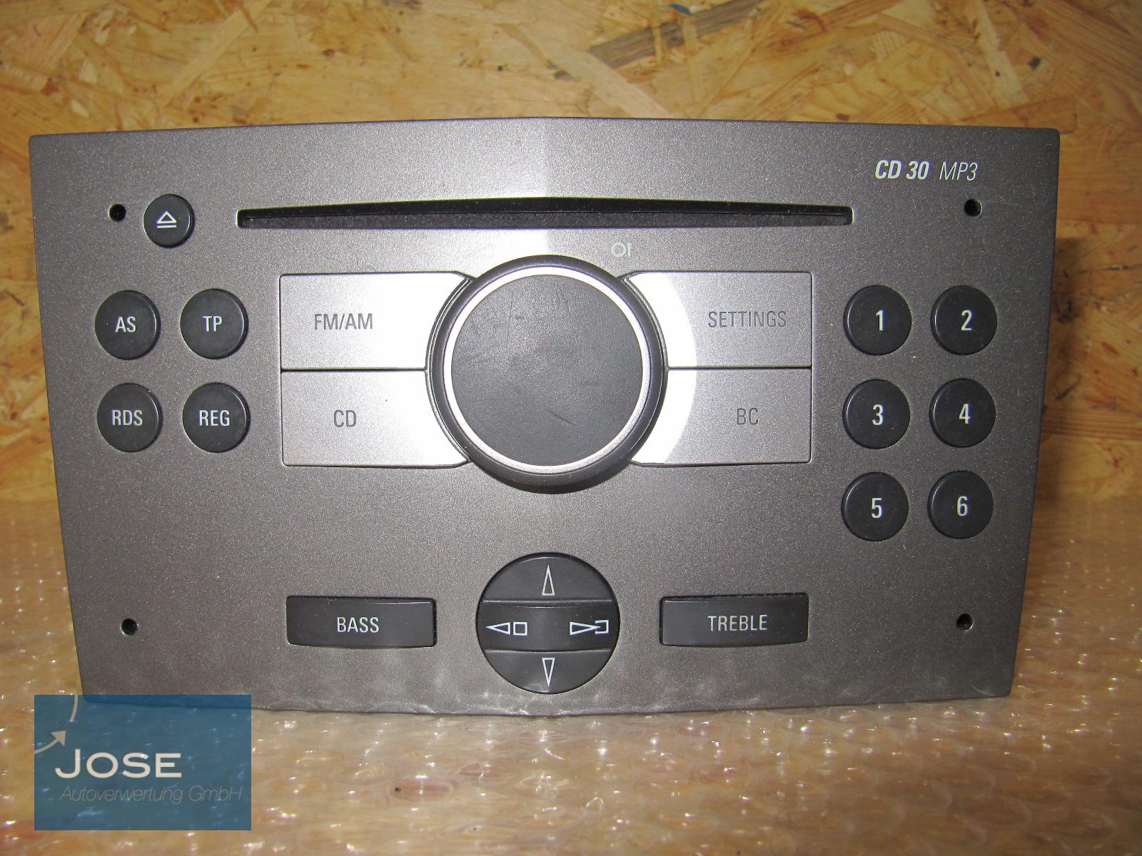 original autoradio cd radio cd30 mp3 az opel astra h 2005 13154304 ebay. Black Bedroom Furniture Sets. Home Design Ideas