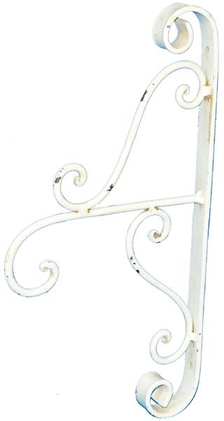 Sch ner wandhalter laternenhalter wei metall kleines schwedenhaus gardinen ebay - Gardinen wandhalter ...