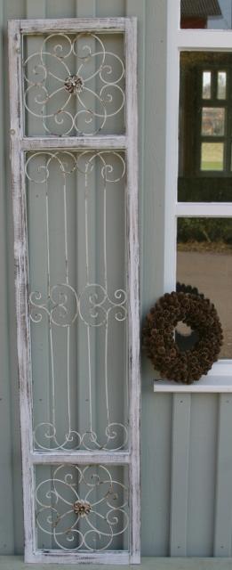 Home t r deko fensterladen metall ornament holz vintage - Fensterladen vintage ...