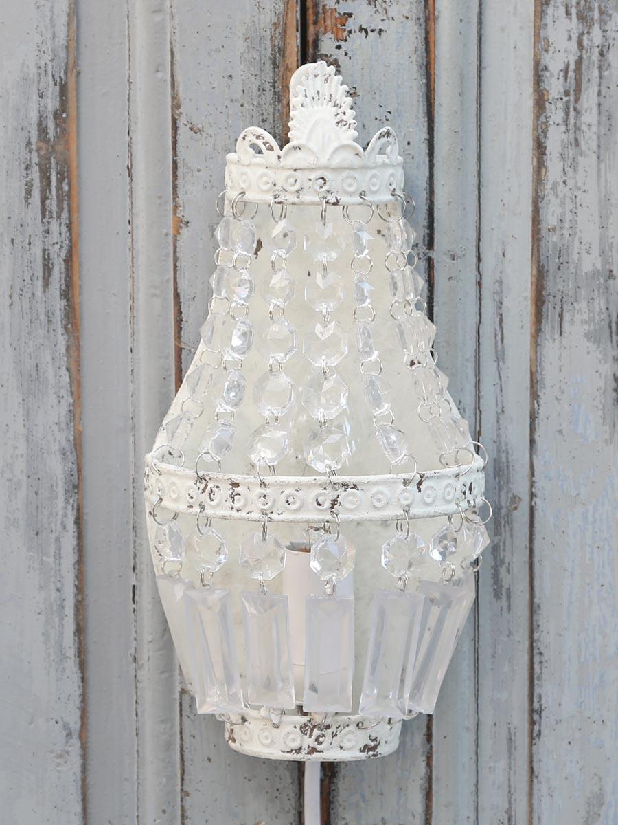 chic antique wandlampe wei lampe shabby nostalgie landhausstil vintage ebay. Black Bedroom Furniture Sets. Home Design Ideas