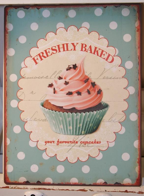 lafinesse magnettafel memoboard küche cupcake schild metall tafel