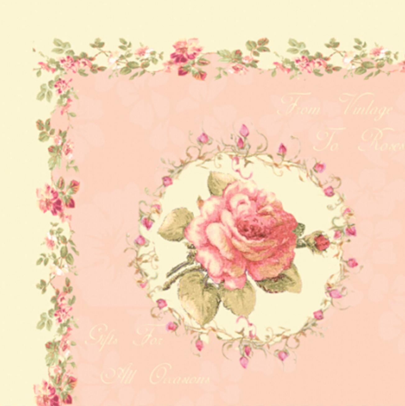 Holzkistchen Mit Hübsch Kleines Schwedenhaus Shabby Chic: Chic Antique Schöne Servietten Rosen Tischdeko Kleines