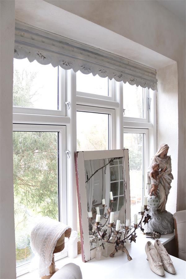 jeanne d arc fenster fries fensterfries vintage shabby chic antique metall creme ebay. Black Bedroom Furniture Sets. Home Design Ideas