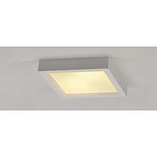 intalite deckenlampe gl 104 e27 eckig wei gips max 2 x 25w ebay. Black Bedroom Furniture Sets. Home Design Ideas