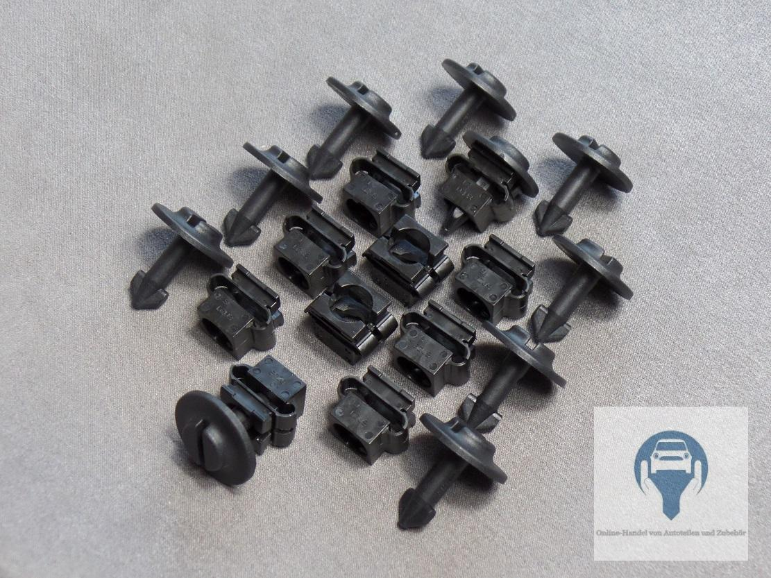10x Skid Plate Motor Protection Wheel Thread Clips For