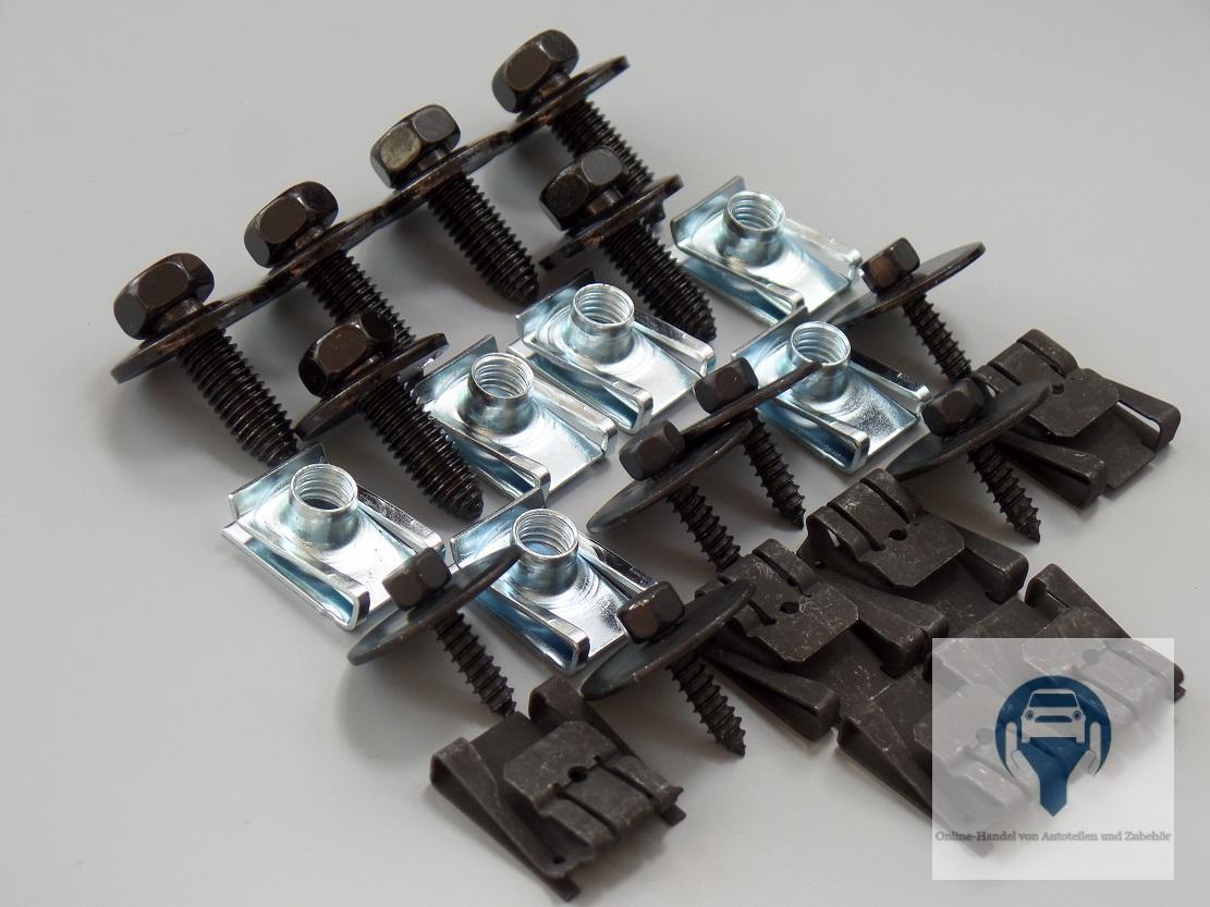 unterfahrschutz getriebeschutz motorschutz einbausatz clips mercedes w203 w204 ebay. Black Bedroom Furniture Sets. Home Design Ideas
