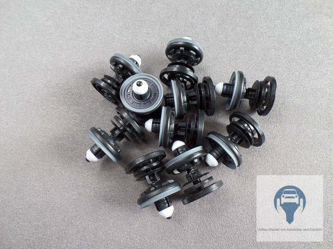 10x für VW AUDI PORSCHE TÜRVERKLEIDUNG Klammer Halter Clips 7L6868243