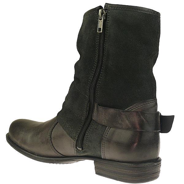 tom tailor damen leder biker boots in 2 farben w hlbar gr. Black Bedroom Furniture Sets. Home Design Ideas