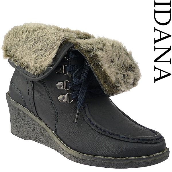 impuls kuschelige damen boots super weich und gef ttert in 2 farben ebay. Black Bedroom Furniture Sets. Home Design Ideas