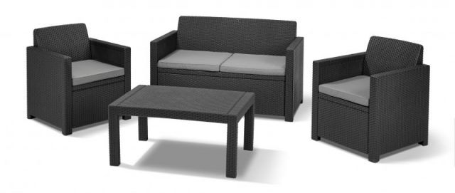allibert merano lounge set in der farbe anthrazit und. Black Bedroom Furniture Sets. Home Design Ideas