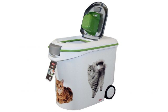 tier futter container 35 liter f r 12 kg trockenfutter katze curver petlife ebay. Black Bedroom Furniture Sets. Home Design Ideas