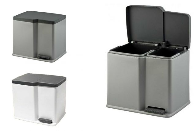 duo treteimer 15 7 liter abfalleimer curver 221525 ebay. Black Bedroom Furniture Sets. Home Design Ideas