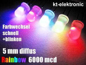 10-Stueck-LED-5mm-RGB-Auto-Regenbogen-schnell-diffus