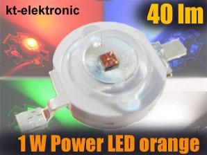 1x-Power-LED-Emitter-orange-1W-350mA-5mm-Linse