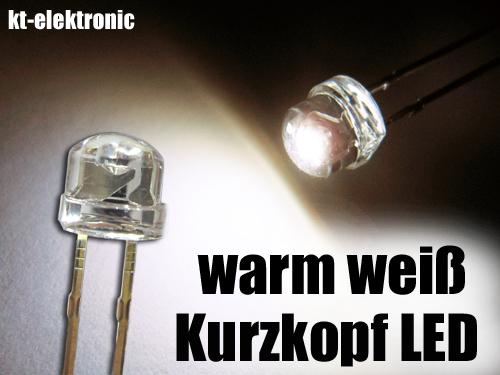 50x-LED-5mm-warm-weiss-Kurzkopf-Flachkopf-2000mcd-110