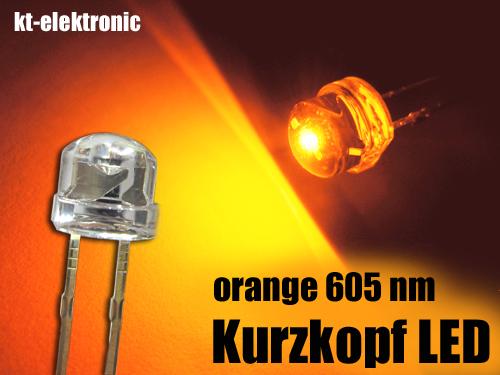 25x-LED-5mm-straw-hat-orange-Kurzkopf-Flachkopf-110