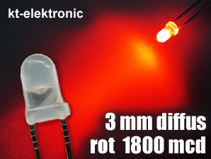 100-Stueck-LED-3mm-rot-diffus-superhell