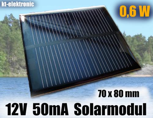 1-Stueck-12V-50mA-0-6W-70x80mm-Solarmodul-Solarzelle-Monokristallin-vergossen