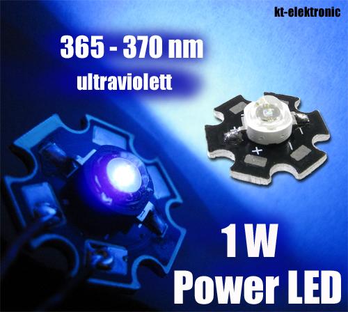 1-x-Power-LED-UV-ultraviolett-1W-350mA-365nm