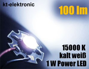 10-Stueck-Power-LED-1W-350mA-kalt-weiss-100lm-5mm-Linse