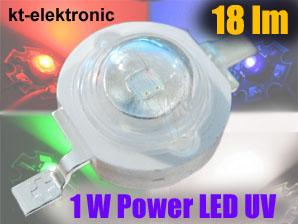 1-Stueck-Power-LED-Emitter-UV-ultraviolett-1W-350mA-390nm