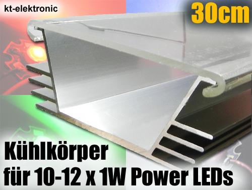 30 cm reflektor k hlk rper set f r aquarium beleuchtung 12 x 1w power led ebay. Black Bedroom Furniture Sets. Home Design Ideas