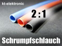 10m Industrie Schrumpfschlauch 2:1 Ø 3mm BLAU