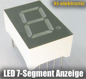 1x LED 7-Segment Anzeige blau Ziffernanzeige 12,7mm Display gem. Anode (+)