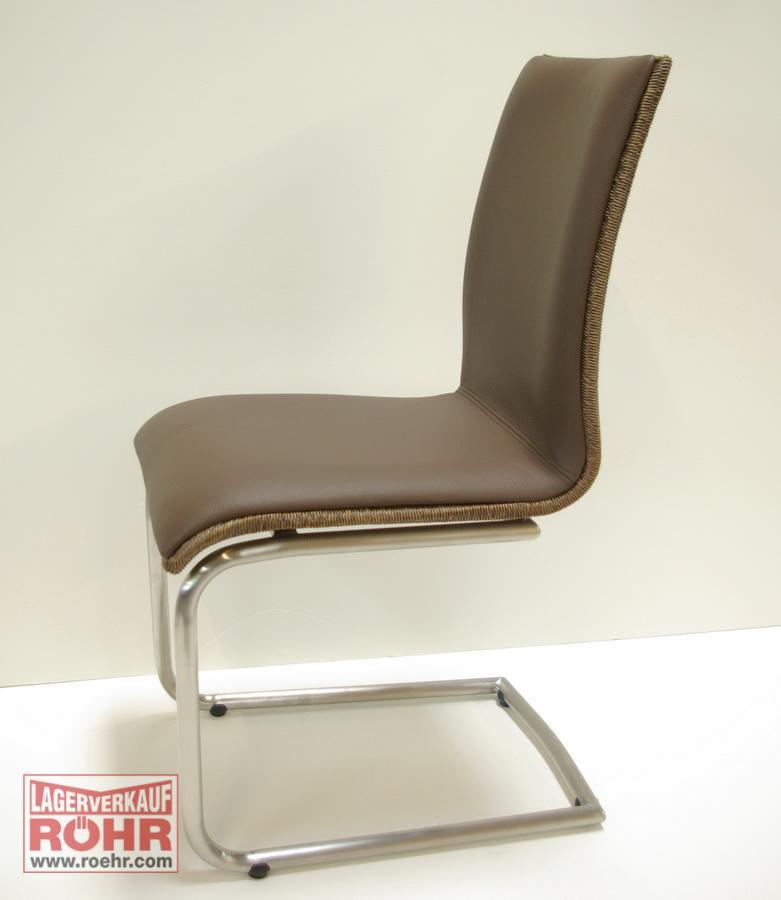 schwingstuhl loomgeflecht leder 5741 02 652 ebay. Black Bedroom Furniture Sets. Home Design Ideas