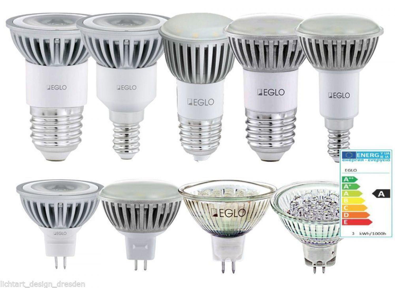eglo led leuchtmittel 1 2w 3w reflektor gu5 3 e27 e14 sparlampe smd strahler ebay. Black Bedroom Furniture Sets. Home Design Ideas