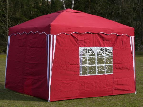 faltpavillon 3x3 m rot pavillon gartenpavillon ebay. Black Bedroom Furniture Sets. Home Design Ideas