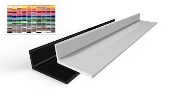 Alu winkel pulverbeschichtet gl nzend aluprofil l profil for Fenster 60 x 30