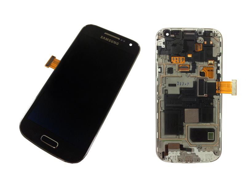 samsung galaxy s4 mini gt i9195 schwarz black display. Black Bedroom Furniture Sets. Home Design Ideas