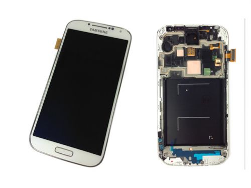 Samsung Galaxy S4 LTE GT-i9505 i9505 weiß / white Display Digitizer Rahmen