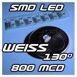 1-x-SMD-Strippe-LED-mit-Kabel-Verkabelt-130-WEiss
