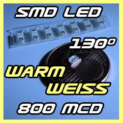 SMD-LED-Modelleisenbahn-Wagon-Lok-Beleuchtung-Warmweiss