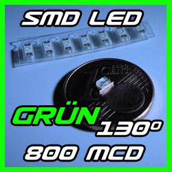 1-x-SMD-Strippe-LED-mit-Kabel-Verkabelt-130-GRUN