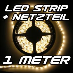 Set-LED-Strip-Streifen-WARMWEIss-1-m-60-LEDs-Netzteil