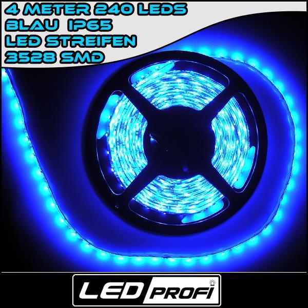 led leiste flexibel wasserdicht blau 4m 240 smd 3528 blaue 12v beleuchtung ebay. Black Bedroom Furniture Sets. Home Design Ideas