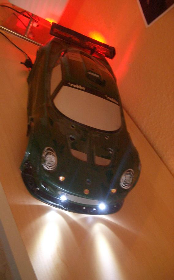 6 x led xenon beleuchtung set f r rc auto car 1 5 9v ebay. Black Bedroom Furniture Sets. Home Design Ideas