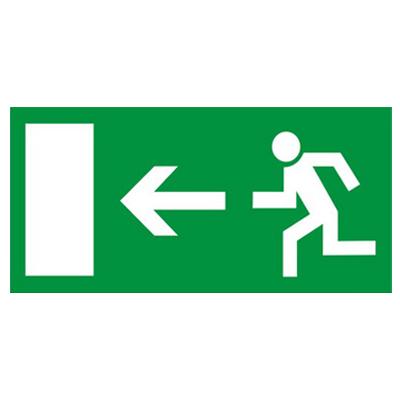 Rettungszeichen-Rettungsweg-Notausgang-links-Kunststoff
