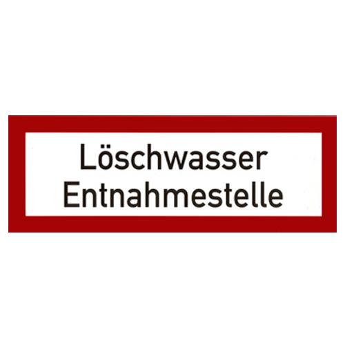 Loeschwasser-Entnahmestelle-Folie-Brandschutzzeichen-Brandschutzschild
