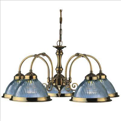 eleganter 5 fl kronleuchter in messing antik american diner von searchlight ebay. Black Bedroom Furniture Sets. Home Design Ideas